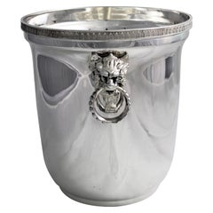 20th Century Empire Silver Wine Cooler Italy, 1950s