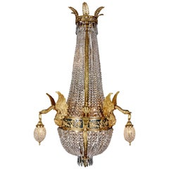 20th Century Empire Style Chandelier Referred to Empress Joséphine