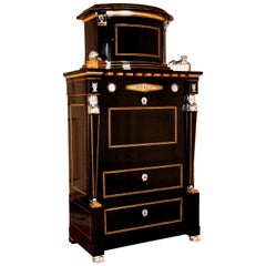 20th Century Empire Style Courtly Lion Secretaire