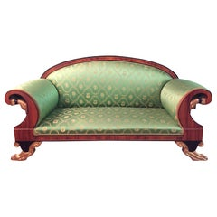 20th Century Empire Style Palisander Swan Sofa