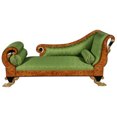 20th Century Empire Swan Chaise Longue