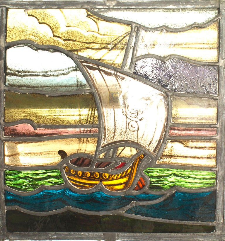 Arts and Crafts English Arts & Crafts Stained Glass Window For Sale