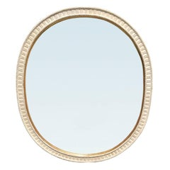 20th Century English Custom Painted Fat Oval Mirror