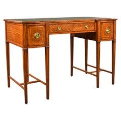20th Century English Edwardian Satinwood Writing Table