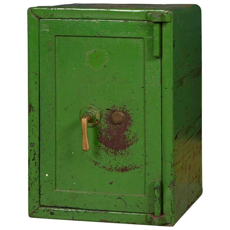 20th Century English Fire Proof Safe, circa 1930 For Sale