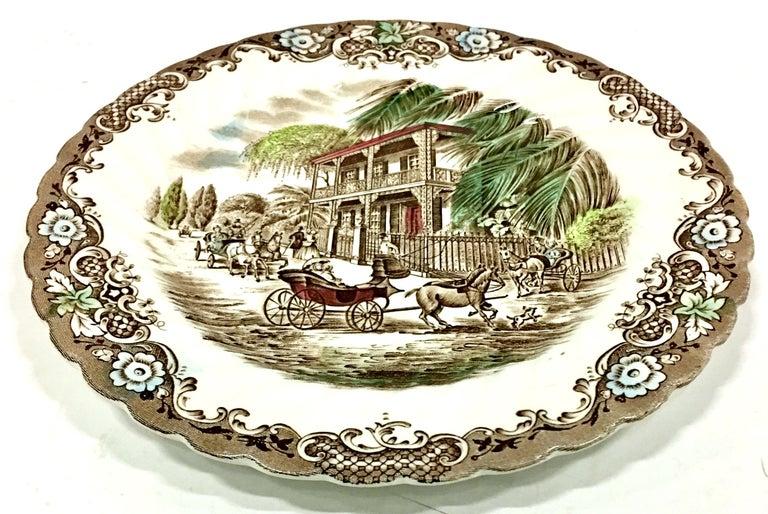 20th Century English Ironstone Coffee-Dessert Set of 9