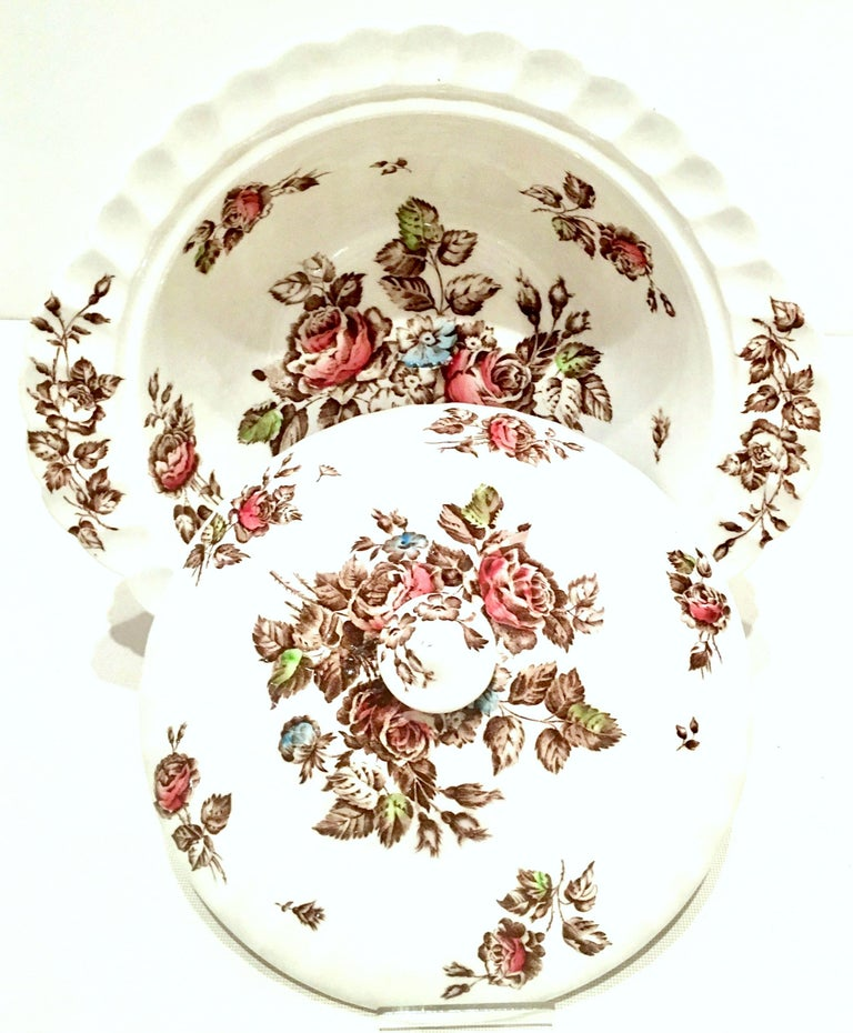 Mid-Century English Ironstone dinnerware set of 16 pieces,