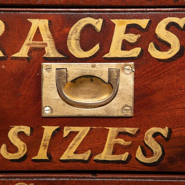 20th Century English Mahogany Fifteen Drawers Haberdashery, 1900s For Sale 8