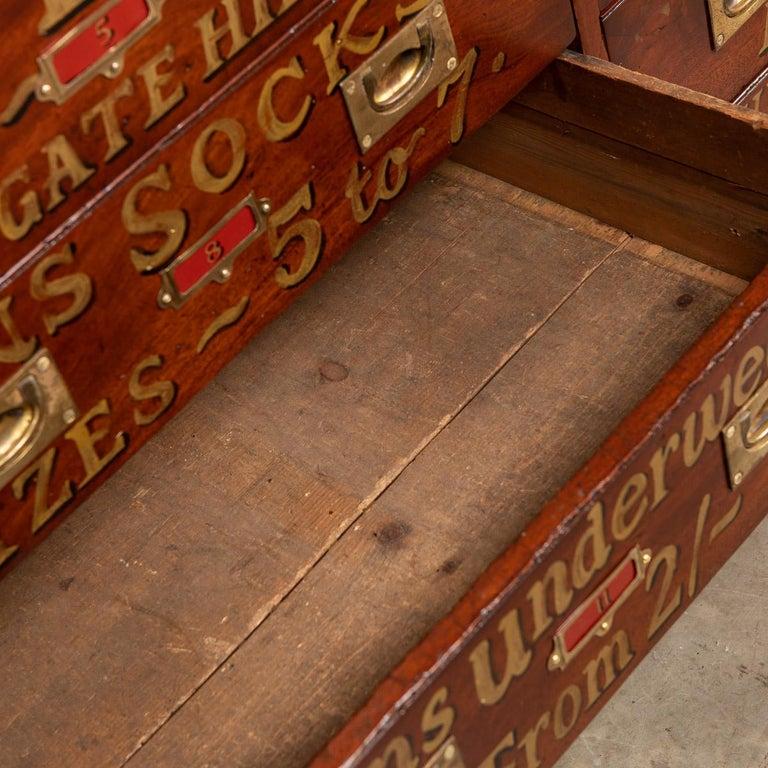 20th Century English Mahogany Fifteen Drawers Haberdashery, 1900s For Sale 15