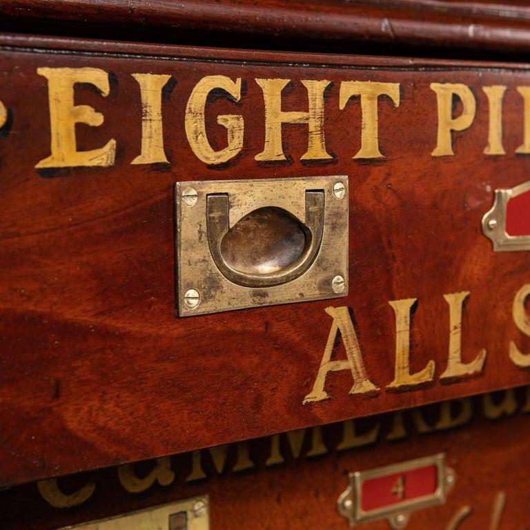 20th Century English Mahogany Fifteen Drawers Haberdashery, 1900s For Sale 3