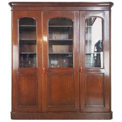 20th Century English Mahogany Wood Bookcase