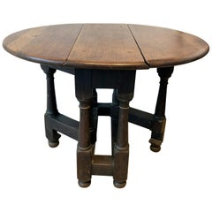 20th Century English Oak Small Gate Leg Table