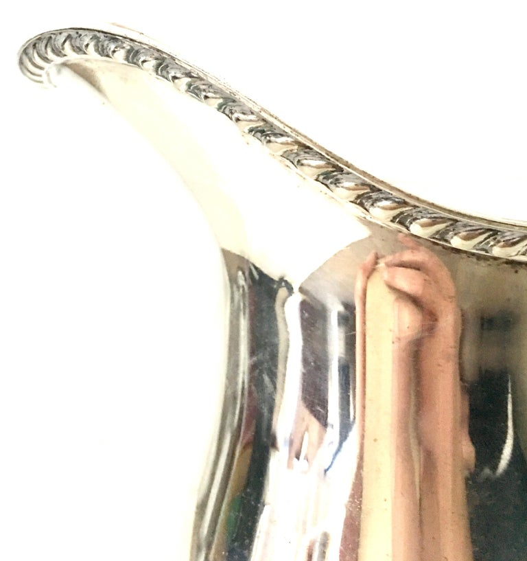 20th Century English Silver Plate Beverage Serving Pitcher By, Bristol For Sale 4