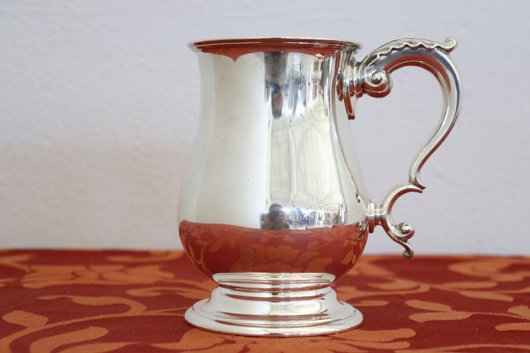 Edwardian 20th Century English Sterling Silver 925 Tankard by Elkington & Co, 1902 For Sale