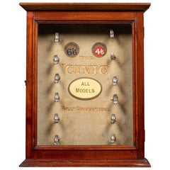 """20th Century English """"The Civic"""" Pipes Counter Display Cabinet, c.1910"""