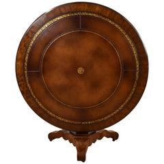 20th Century English Victorian Mahogany Circular Library Table
