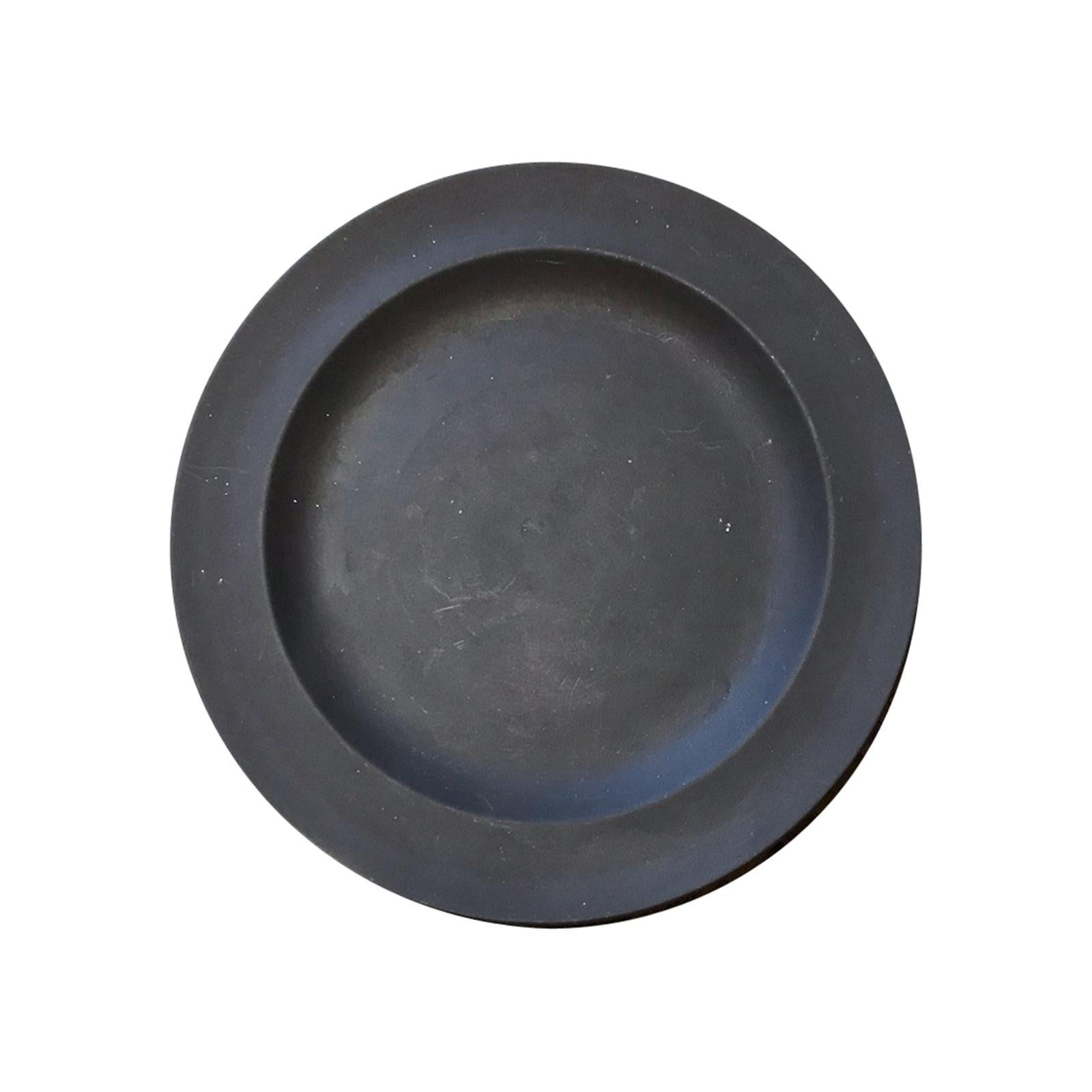 20th Century English Wedgwood Basalt Plate, Marked