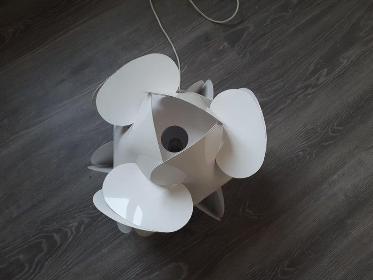 Post-Modern Enrico Botta Table Lamp Plan for Sundown White Colour For Sale
