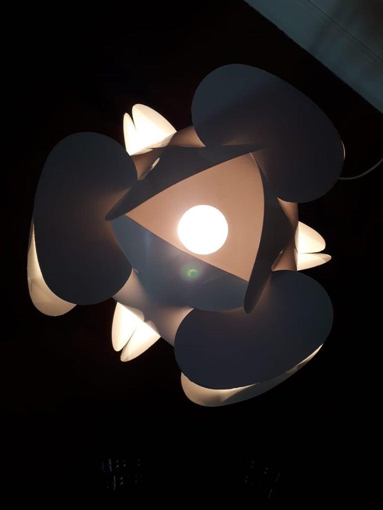 Italian Enrico Botta Table Lamp Plan for Sundown White Colour For Sale