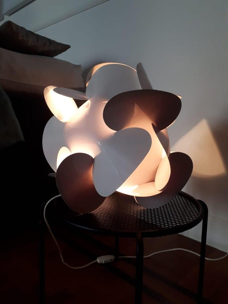 Enrico Botta Table Lamp Plan for Sundown White Colour In Good Condition For Sale In Montecatini Terme, IT