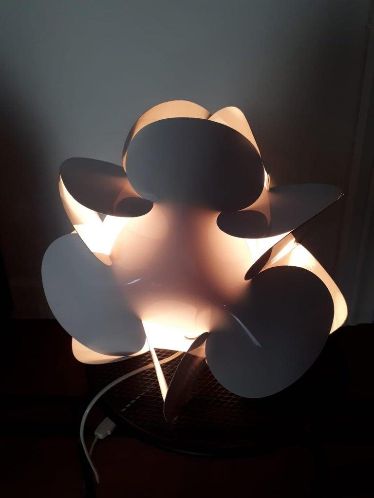 Mid-20th Century Enrico Botta Table Lamp Plan for Sundown White Colour For Sale