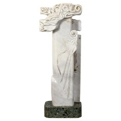 "20th Century ""Environmental Tree"" Italian Marble Statue"