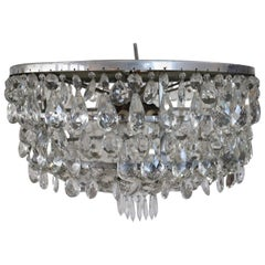 20th Century European Luxury Chandelier with Bohemian Crystal Drops