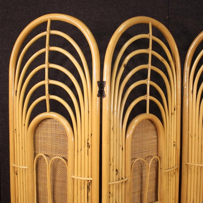 20th Century Exotic Wood Italian Design Screen, 1970 For Sale 7