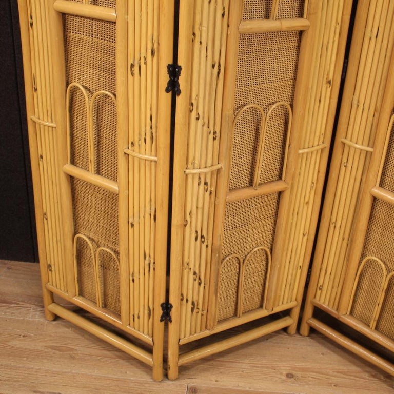 20th Century Exotic Wood Italian Design Screen, 1970 For Sale 8