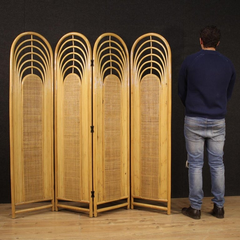 20th Century Exotic Wood Italian Design Screen, 1970 For Sale 9
