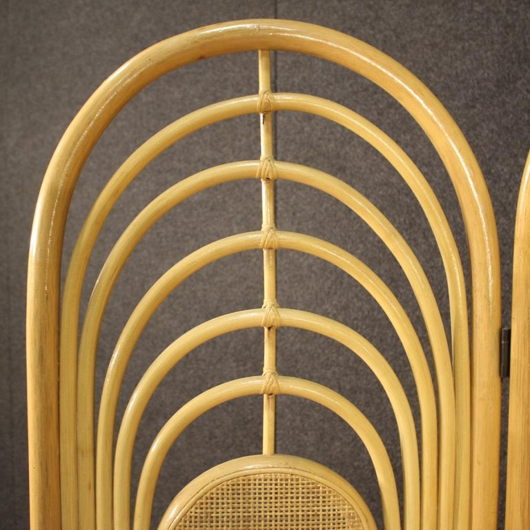 20th Century Exotic Wood Italian Design Screen, 1970 For Sale 1