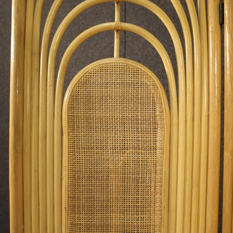 20th Century Exotic Wood Italian Design Screen, 1970 For Sale 2