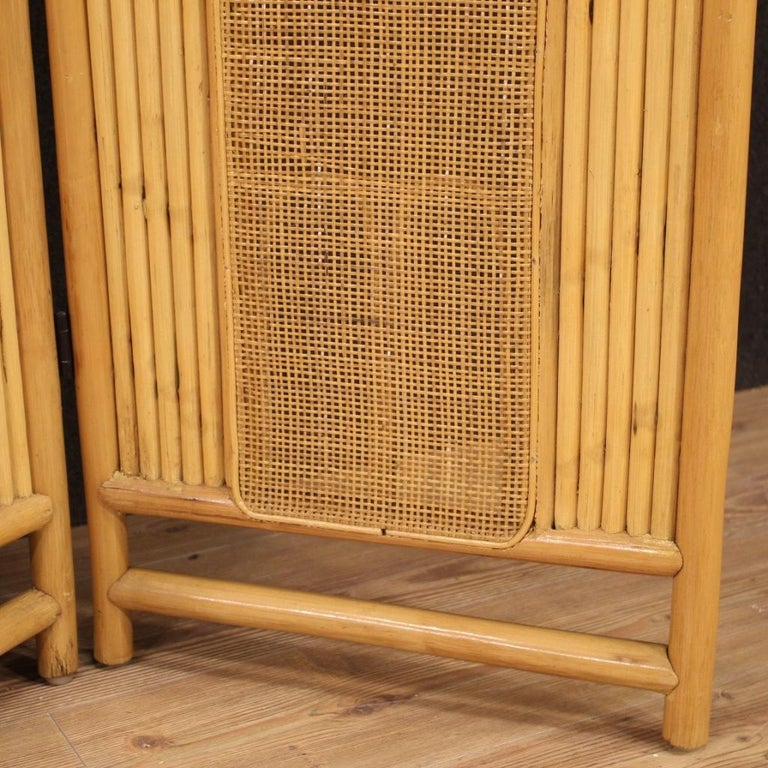 20th Century Exotic Wood Italian Design Screen, 1970 For Sale 3