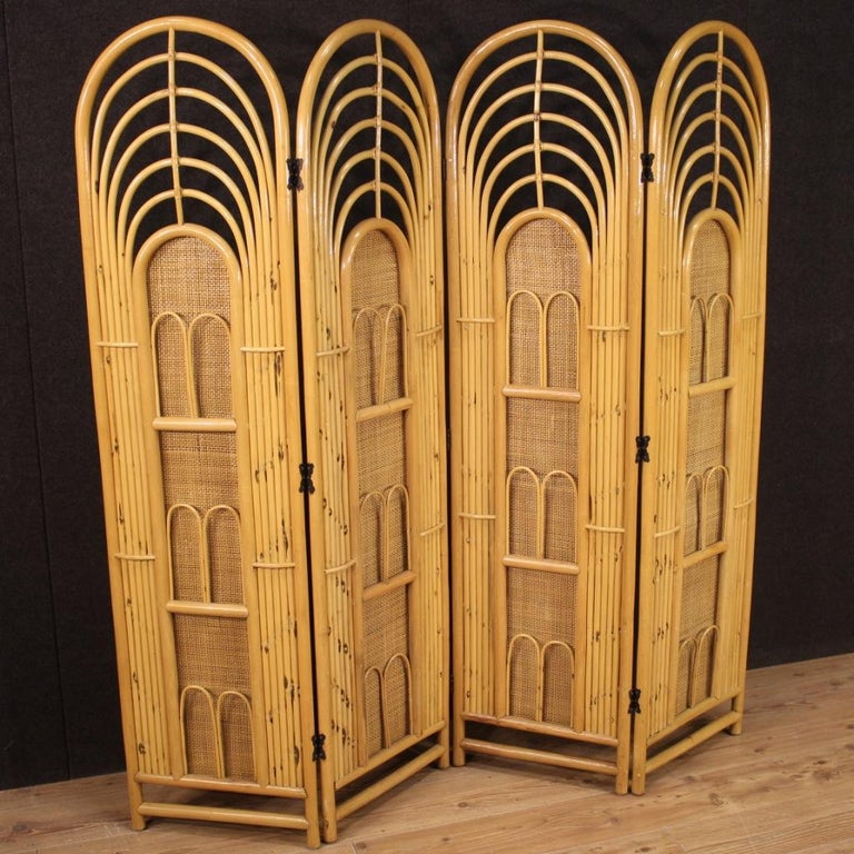 20th Century Exotic Wood Italian Design Screen, 1970 For Sale 5