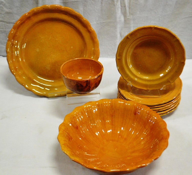 20th Century Faience Tableware In Good Condition For Sale In Vista, CA