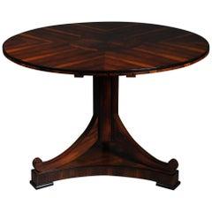 20th Century Fancy Round Folding Table in Biedermeier Style