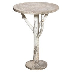 Antique English Country Faux Bois Garden Table