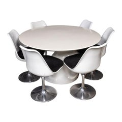 20th Century Fibreglass & Lacquer Table & Set of Six Chairs, C.1960