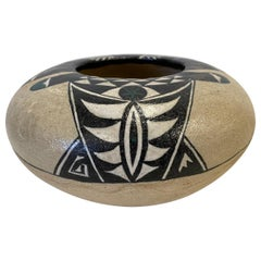 20th Century Fired-Clay bowl, by Santa Fe Artist Gary Campbell