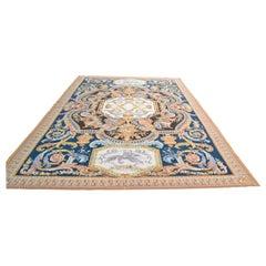 20th Century Flat-Weave Louis XIV Style Aubusson Carpet