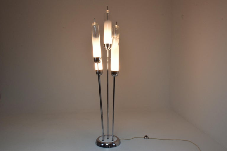 Space Age 20th Century Floor Lamp in Murano Glass by Carlo Nason for Mazzega, 1970s For Sale