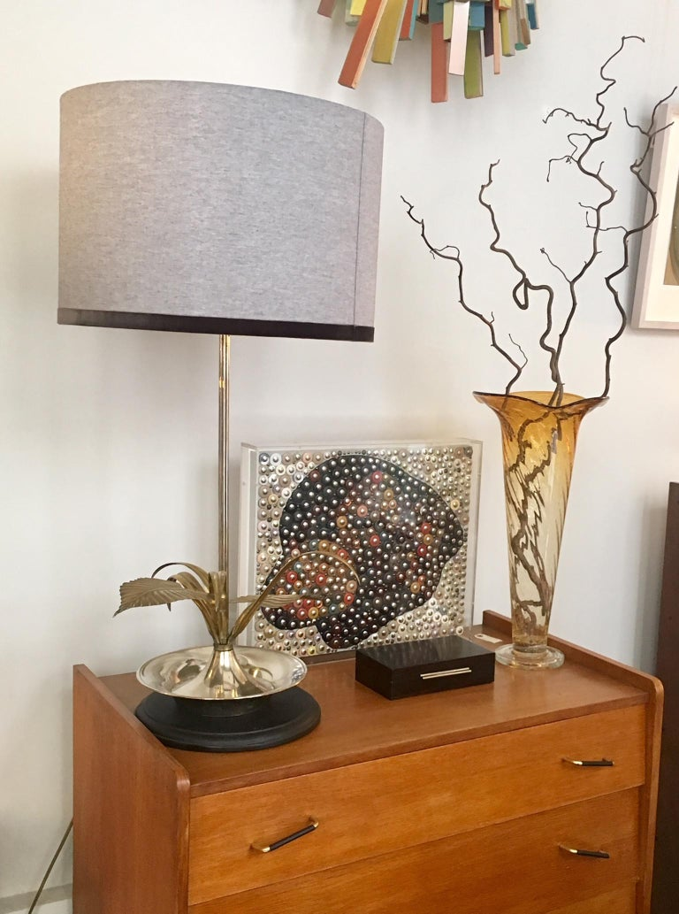 20th Century Flower Table Lamp In Good Condition For Sale In Madrid, ES