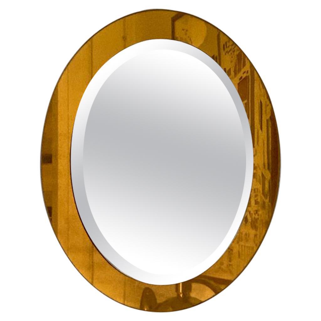Fontana Arte Oval Golden Mirror