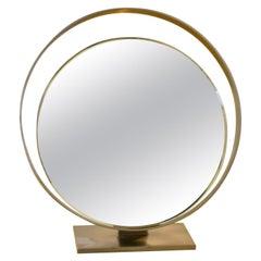 20th Century Fontana Arte Reclining Table Mirror Mod. 2153 in Brass