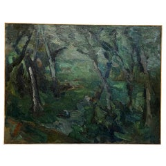 20th Century Forest Landscape, Painting by Daniel Clesse