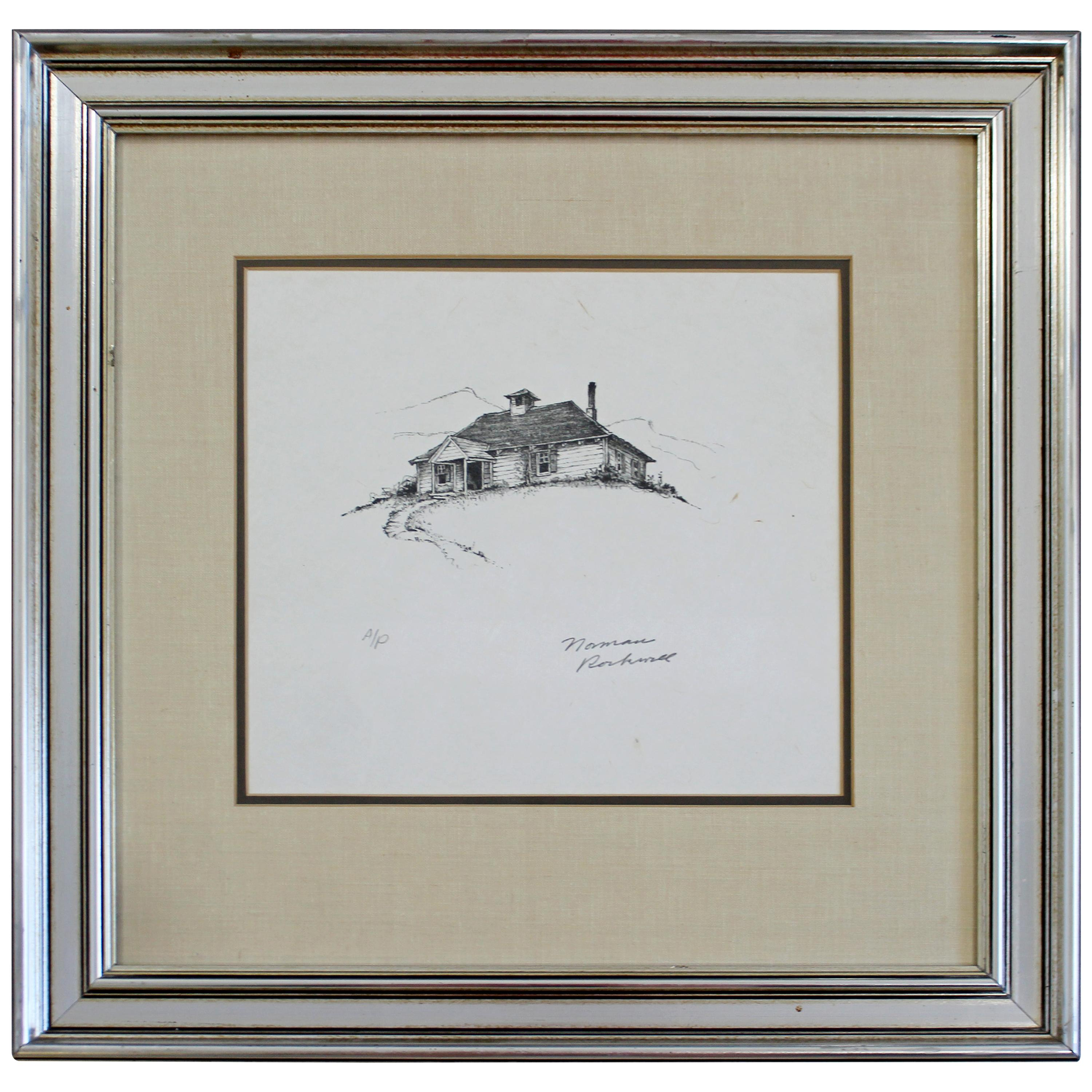 20th Century Framed Modern Illustration A.P. Litho Signed Norman Rockwell, 1947