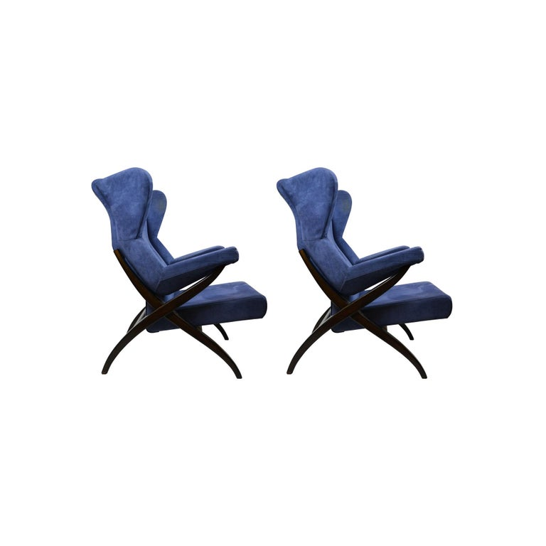Italian 20th Century Franco Albini Couple of Armchairs Model Fiorenza for Arflex For Sale