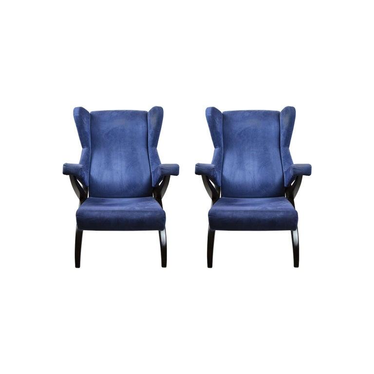 20th Century Franco Albini Couple of Armchairs Model Fiorenza for Arflex In Good Condition For Sale In Turin, IT