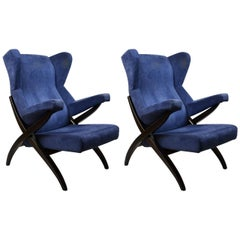 20th Century Franco Albini Couple of Armchairs Model Fiorenza for Arflex