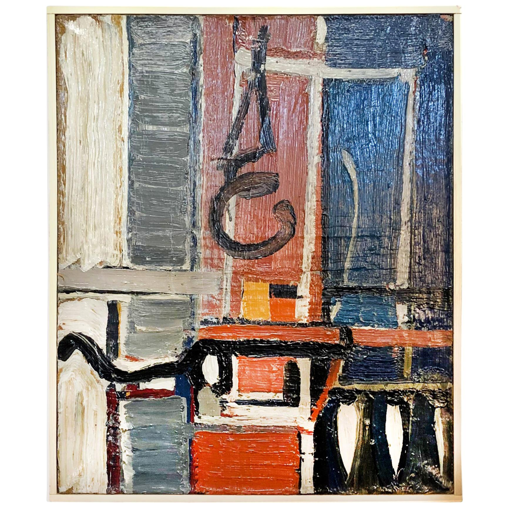 20th Century French Abstract Painting by Daniel Clesse